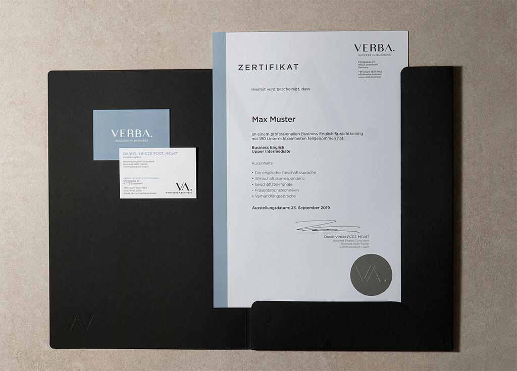 Zertifikat oben - Ihr Zertifikat